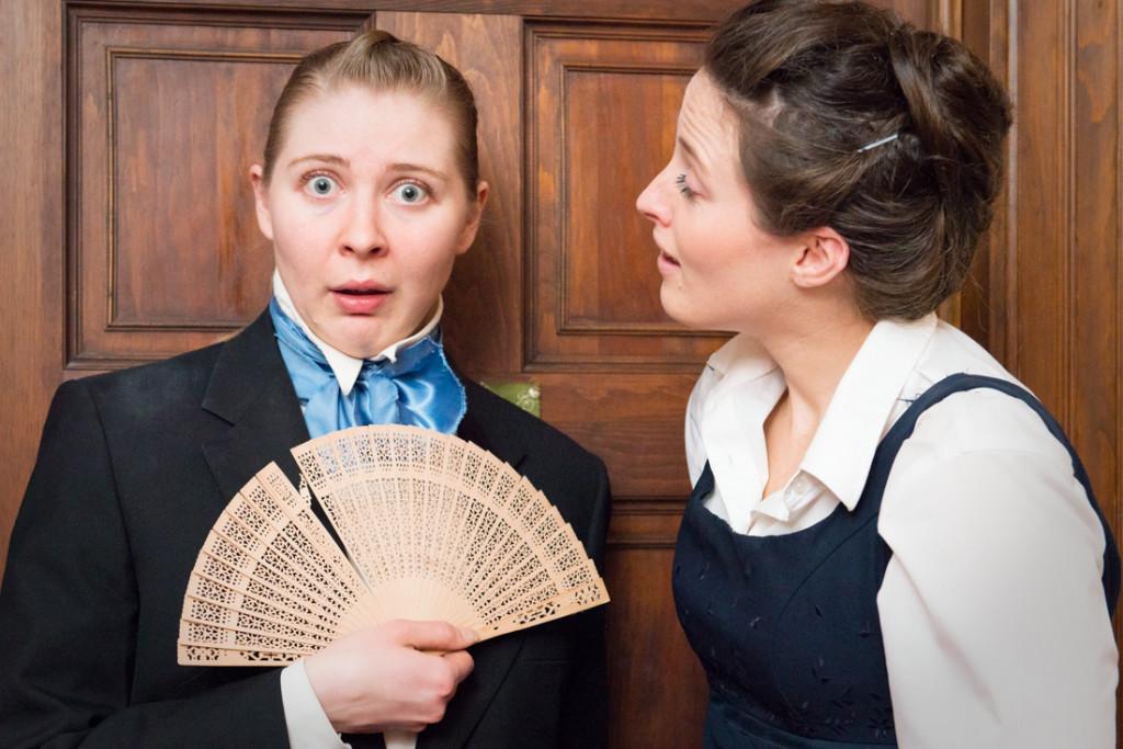 Hallie Burt and Kate Werneberg in Elizabeth-Darcy